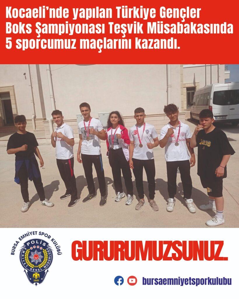 """Kocaeli""""nde yapılan Türkiye Gençler Boks şampiyonası Teşvik müsabakasında 5 sporcumuz maçlarını kazandı."""